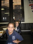 Pre-K class at lunch