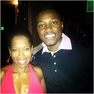 CSF Omaha alum Josh Jones with actress Regina King at last night's Champions for Choice event. (Photo: Josh Jones)